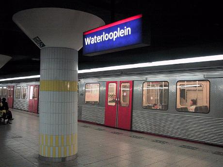 Foto Metrostation Waterlooplein in Amsterdam, Info, Reizen